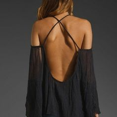 Black Blouse, Bohemian, Boho, Hippie, Black Lace Shirt, Backless Blouse, Womens Blouse...in other words...completely badass!!