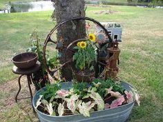 Garden Vignettes :: Washtub planted by goldenpond image by sangaree_KS…