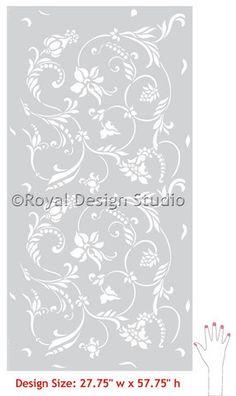 Flower Stencils | Flourish Allover Stencil | Royal Design Studio.