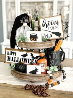 Halloween signs / hocus pocus / coffee bar / tiered tray signs | Etsy
