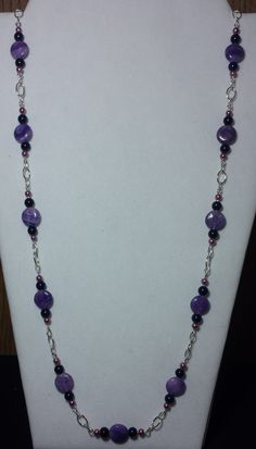 Handmade Beaded Necklace with Dyed Blue by KimsSimpleTreasures, $20.00