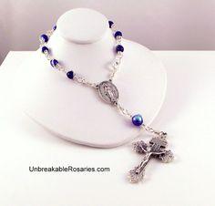 Miraculous Medal Rear View Mirror Auto Rosary Chaplet www.UnbreakableRosaries.com