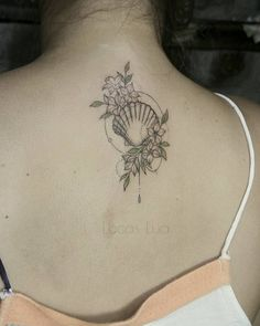 #Seashell sea shell tattoo seashell flowers fine line tattoo fine liner lucas lua de souza