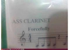 music clarinet humor