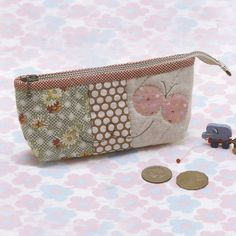 No.07 PDF Pattern of How to do Butterfly Dancing Pencil bag case box sewing quilt applique patchwork gift handmade