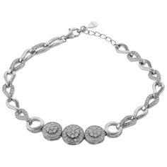 Define Jewellery Silver American Diamond bracelet for Women (DFBC0035 )