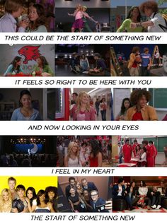 I don't think anyone could read this without singing it in their head :) #HSM LOVE