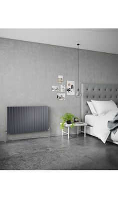Decorate your home with these gorgeous horizontal radiators! In an anthracite finish they go great with soft grey colours Modern Radiators, Contemporary Radiators, Horizontal Radiators, Central Heating, Hallways, Plumbing, Decorating Your Home, Living Rooms, Gray Color
