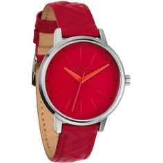 Nixon Kensington Leather Watch ($75) ❤ liked on Polyvore featuring jewelry, watches, leather jewelry, leather wrist watch, leather watches, water resistant watches and analog wrist watch