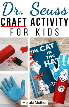 This super fun and easy Dr. Seuss Cat in the Hat themed craft is the perfect activity for kids to do this Dr. Seuss day. #drseuss #drseusscrafts #craftsforkids #activitiesforkids #preschoolactivities #forkids #artsandcrafts
