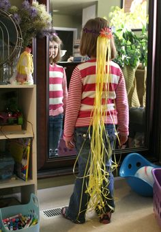 rapunzel party ideas | Visit Road 10: Tangled Party - Rapunzel Hair Headbands with Tangled ...