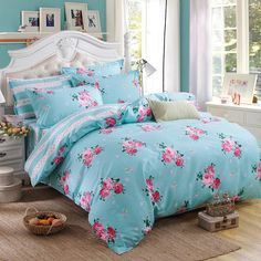 4pcs Bohemian Bedding Set Soft Polyester Bed Linen Duvet Cover Pillowcases Bed Sheet Sets Home Textile Queen Full Coverlets Who like it ? Get it here
