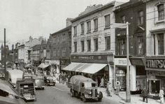 Woolworth's, New Street, Huddersfield, 1953 Huddersfield Yorkshire, Huddersfield Town, East Yorkshire, Yorkshire England, Steam Railway, Great Britain, Old Photos, Scenery, Rule Britannia