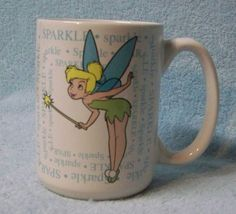 Disney Tinkerbell Sparkle Mug Definition Lively Effervesce Coffee Cup White