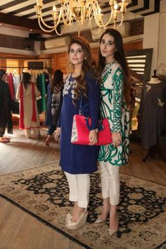 Mishal Asad and Anushaye. #Kurtis #IndianShopping