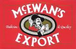 Scottish & Newcastle McEwan's Export beer label - Can McEwans, takes me back. New Castle Beer, Beer Advertisement, British Beer, Beer Mats, Beer Label, How To Raise Money, Newcastle, Liverpool, Retro