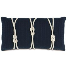 Nautical Blues Knot pillow