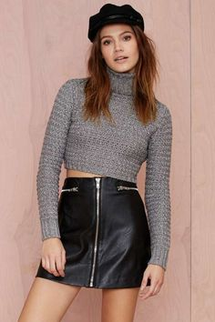 Nasty Gal Sophie Metallic Turtleneck Sweater - Clothes.  $40.60
