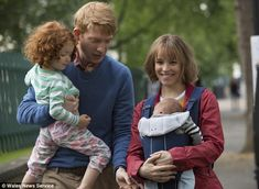 Olivia in a scene in 'About time' with co-stars Rachel McAdams and Domhnall Gleeson