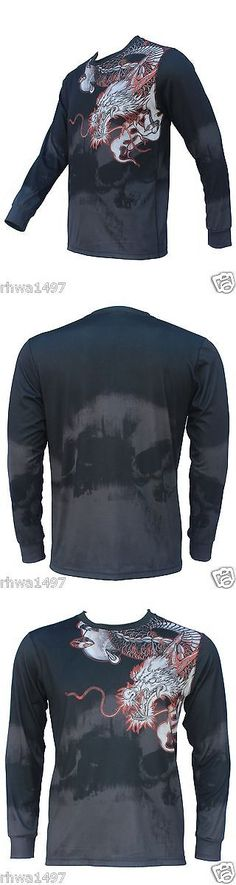 Other Mens Fitness Clothing 40892: Un92 White Dragon Long Sleeve T-Shirts_Black -> BUY IT NOW ONLY: $34.95 on eBay!