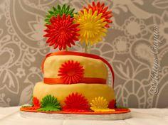 Tarta Hippie Girasoles / Daisies Gerbera Cake #TartaHippieGirasoles #DaisiesGerberaCake #HippieCake #Girasoles #tartas #fondant #cakes #tartasDecoradas #fondantCakes #sugarcraft #foodPhotography