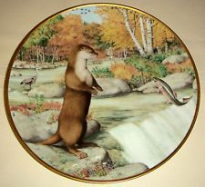 Peter Barrett Woodland Year OTTER AT A SEPTEMBER WATERFALL Ebay $11.99 to $59.99 one sold for $6.48