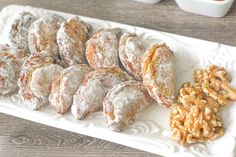 Ghotab / Qottab Pastry (Traditional Iranian Almond and Walnut-Filled Crescents): Ghotab is a traditional Iranian almond and walnut-filled crescent pastry that is infused with cardamom and cinnamon flavours to make the perfect treat | aheadofthyme.com