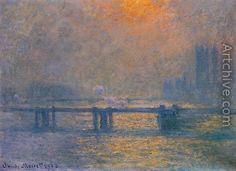 Charing Cross Bridge, The Thames I - Claude Oscar Monet
