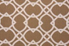 Richloom Ortiz Printed Cotton Drapery Fabric in Sand $8.95 per yard