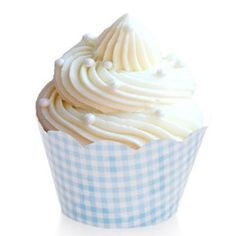 Cupcake Wrappers - Gingham - Baby Blue (12 per Pack) $5.99 for 12