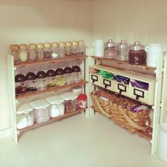 aks's room photo about 'Kitchen,ダイソー,100均,ハンドメイド,DIY,手作り,すのこ DIY,スパイス棚DIY ,'. RoomClip, Your Own Personal Interior Photo Collection