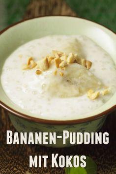 Und zum Dessert? Bananenpudding mit Kokos und Sagoperlen | Zeit: 30 Min. | http://eatsmarter.de/rezepte/bananenpudding-mit-kokos-und-sagoperlen