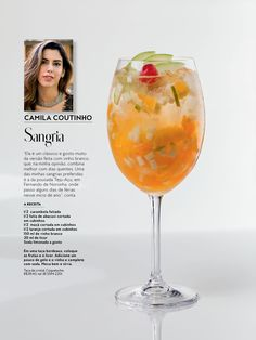 Sangria, Bar Drinks, Alcoholic Drinks, Wine, Glass, Food, Vacation Days, White Wine, Recipes