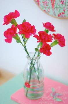 I heart German red carnations!