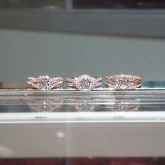 rose gold engagement rings from Scott Kay The one in the middle is pretty awesome