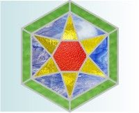 Stained tglass and mosaic tile stepping stone patterns
