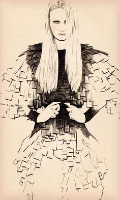 Fashion illustration Sandra Suy