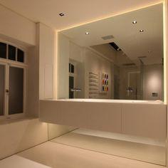 Tips to choose a bathroom mirror pinterest modern architecture 2700k contour high cri led strip john cullen lighting aloadofball Image collections
