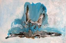 Clara Berta Serenity II Abstract Art Mixed Media Painting Flow Series