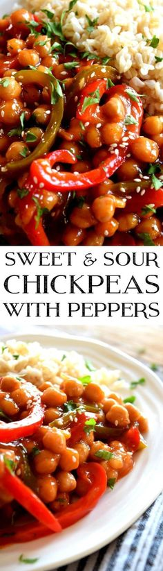 sweet-and-sour-chickpeas-with-peppers #SugarSweet