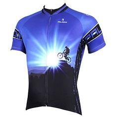 tops+/+Jersey+(Azul)+-+de+Ciclismo+/+Sertão+-+Homens+-Respirável+/+Resistente+Raios+Ultravioleta+/+Secagem+Rápida+/+wicking+/+–+EUR+€+19.39