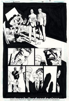 Eduardo Risso - 100 Bullets #80 pg10 Comic Art