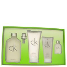 Ck One Gift Set  6.7 oz Eau De Toilette & Lotion CALVIN KLEIN for MEN WOMEN 4ps #CalvinKlein