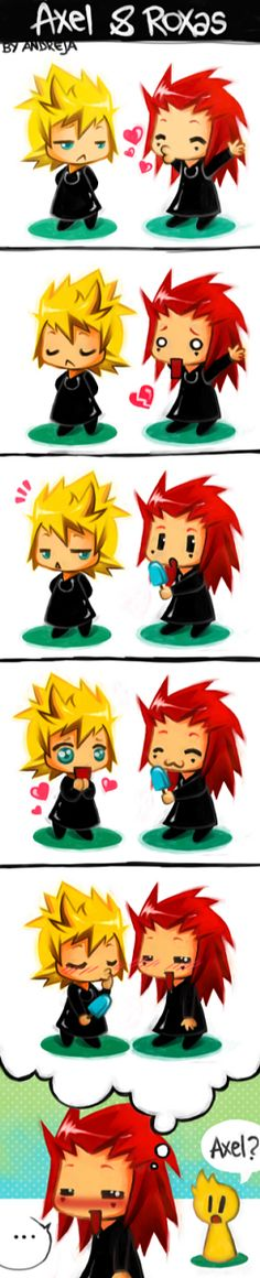 Kingdom Hearts - Axel x Roxas - AkuRoku