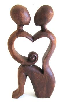 Love Statue Wood Carved Always Love Me Kissing Couple Romantic Abstract Art, SIZE 10'- OMA BRAND >>> Wow! I love this. Check it out now! : Home Decor Sculptures