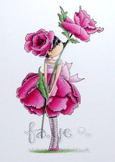 Mojobella Garden Girl Poppy in Pink