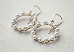 Pearl earrings by ElisabethSpace on Etsy