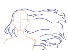 Drawing Hair Tips Hair moviment Anime Drawings Sketches, Cool Art Drawings, Pencil Art Drawings, Drawing Body Poses, Drawing Reference Poses, Hair Reference, Drawing Practice, Art Inspiration Drawing, Poses References
