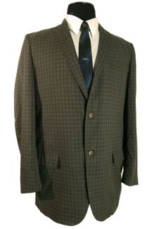 Vintage 1960s plaid Palm Beach Zephyr Weight Sack Cut Sport Coat. Light summer weight fabric that's completely wash'n wear