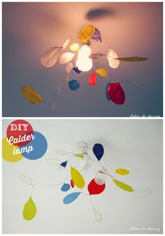 Hi, this is a creative suspension lamp inspired by the famous artist Calder. To made it, I've used a colored tracing paper and some wire. To discover the D
